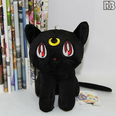17CM Sailor Moon Black Cat Luna Plush Doll Toy Costumes Cosplay Cute