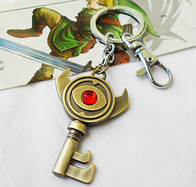 The Legend of Zelda Link Boss Key Keychain Pendant Chain Keyring