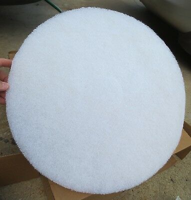 """3 pack - 17"""" White Floor Scrubbing / Polishing / Buffing Pads - NEW"""