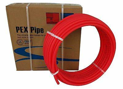 "Pex Tubing 1"" by 300 Feet Oxygen Barrier O2 EVOH Pex-B Red Radiant Floor Heat"