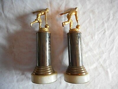 Vintage Los Angeles California Couples LAH 1956 Bowling Trophy Champs