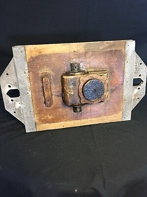 """Vintage Industrial Wooden Foundry Mold Wall Decor 21""""x 12"""" Early 1900's"""