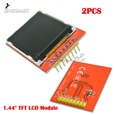 """2pcs 1.44"""" TFT LCD Module 128X128 Serial  SPI Color Replace Nokia 5110 LCD Red"""