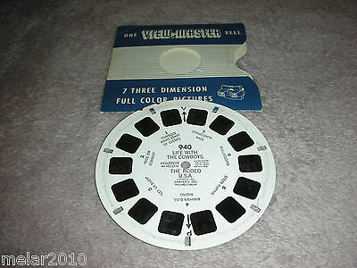 Vintage Sawyer's View-Master Reel # 940 LIFE WITH THE COWBOYS THE RODEO USA