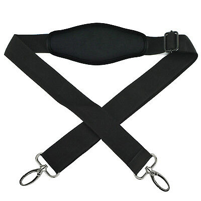 Universal Black Adjustable Shoulder Strap with Double Hooks for Camera Bag Pouch