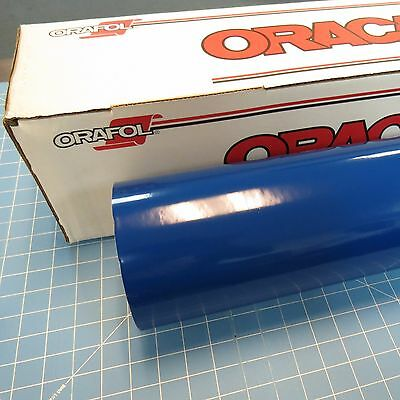 "Blue Oracal 651 (1) Roll 12"" X 10' Sign Cutting Vinyl"