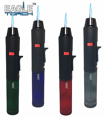 Eagle Jet Torch Gun Pen Torch Lighter Butane Refillable Semi-Transparent Tank