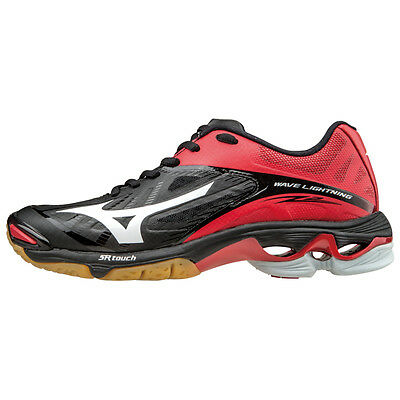Mizuno Wave Lightning Z2 Women's Volleyball Shoes - Black & Red - 430202