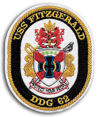 US NAVY DDG-62 USS FITZGERALD Guided Missile Destroyer Ship Crest Patch