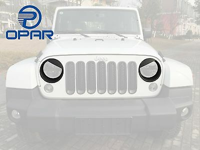 Opar Black Angry Bird Headlight Cover Bezels for 07-15 Jeep Wrangler JK Rubic...