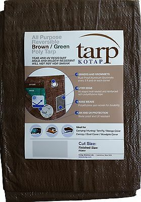 Kotap 16-ft x 20-ft Reversible Brown/Green Poly Tarp Item: TBG-1620