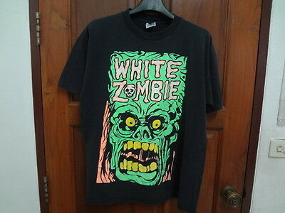White Zombie T shirt 90s Ministry Skinny Puppy NIN INDUSTRIAL Rock tour size XL