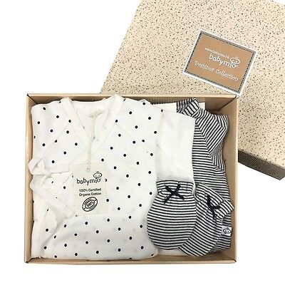 Unisex 100% Organic Cotton Baby Clothes gloves Mittens Baby romper suit Kimono