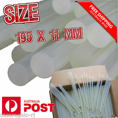Jumbo Hot Clear Melt Glue Adhesive Sticks For Glue Gun 195mm x 11mm