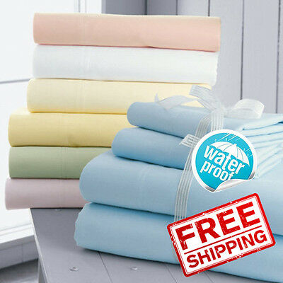 SOL Home Waterproof Bed Mattress Protector Cover Sheet Fitted Sheet