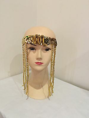 CLEOPATRA HEADPIECE Egyptian Beaded Headband Headdress Fancy Costume Sequin