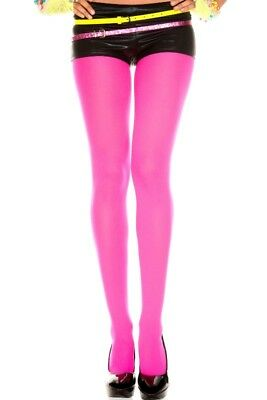 Tights Stockings Neon Colored Regular Size Opaque Fancy Dress Costume Accessory