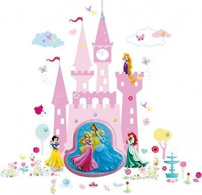 Disney Princess Wall Night Light With Castle Lumiglow Wall Stickers New