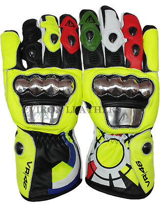 Motorcycle Leather Gloves- EV Rossi Design waterproof!