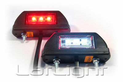 2x LED Side Marker Lights 12V 24V Position Lamp Truck Trailer Lorry 12 24 Volt