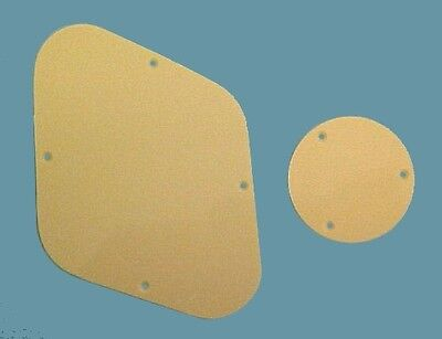 Backplate Cover Set for Les Paul Guitar. - 2mm. Cream Plastic