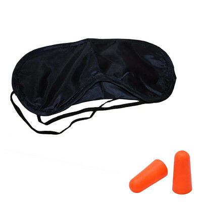 Travel Eyemask Blindfold Foam Earplug Pair Sleeping Aid Day Nap Flight Rest