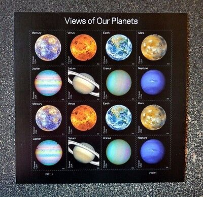 2016USA #5069-5076 Forever - View of Our Planets - Sheet of 16 - Mint USPS space