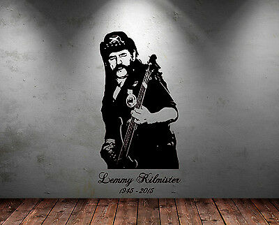 Large Lemmy Motorhead Rock Guitar Legend Free Squeegee Vinyl Decal Sticker Art