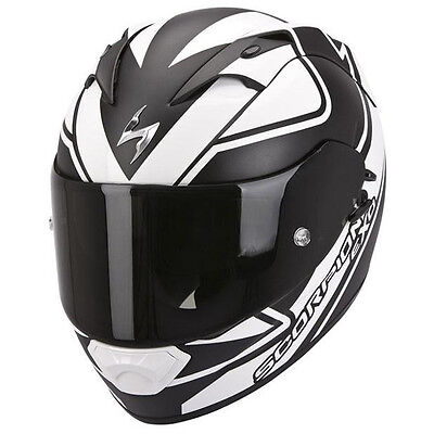 Scorpion EXO 1200 Freeway Motorcycle Motorbike Full Face Helmet White Black