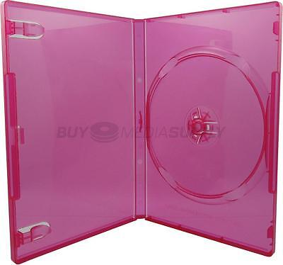 14mm Standard Clear Red 1 Disc DVD Case - 6 Piece