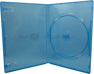 14mm Standard Clear Blue 1 Disc DVD Case - 5 Piece