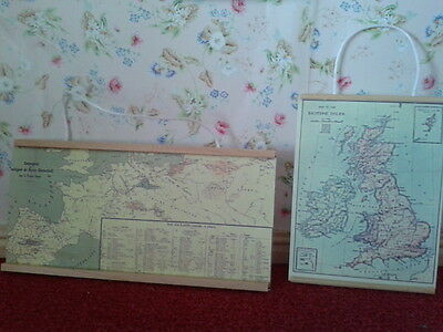 Streets Ahead Dolls House Accessory 1:12th Scale 2 Wall Maps D950 New