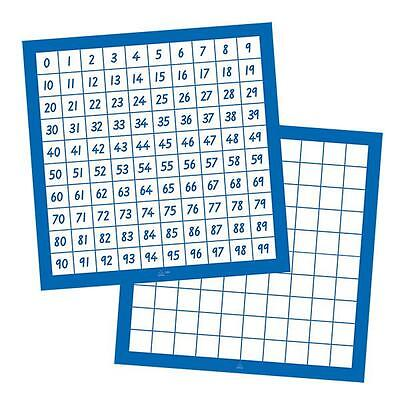 Hundreds Number Boards 0 to 99 Laminated 1 piece Maths Teacher Resource School