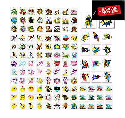 Children's Boys Girls Temporary Tattoos Kids Party Bag Fillers Toy Fundraiser UK