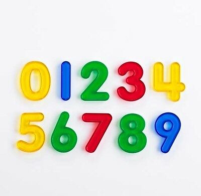 Transparent Numbers 0-9 Lightbox Maths Learning Educational Kids
