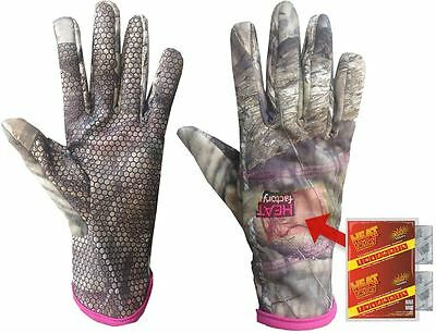 Heated Gloves Women Winter Warm  Finger New Warmer Touch Soft Screen Mossy Oak