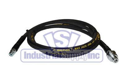 """1/4""""x 10ft Hydraulic Jack Hose 3/8"""" MPT 10,000 PSI With Plug For Enerpac"""