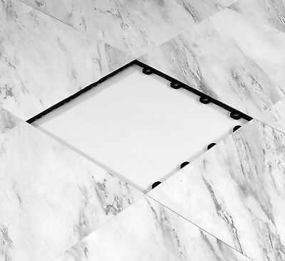 Portable Event Flooring 9 ft x 9 ft White Marble Style