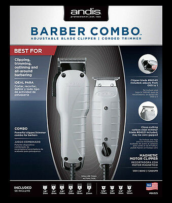 Andis Professional Barber Combo Clipper and Trimmer #66325 New