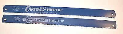 "2 NOS Capewell Hss 18"" x 1-1/4"" x.082"" 6T SAFETECH POWER HACKSAW BLADE #8-1806-6"