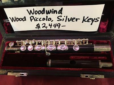 Woodwind Solid Grenadilla Wood Piccolo/Silver Keys-Pro Quality-MINT CONDITION!