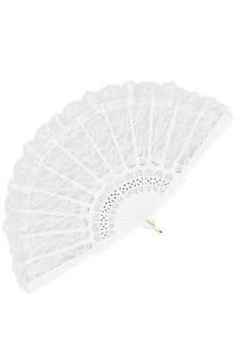 Lace Fan Costume Accessory (White)