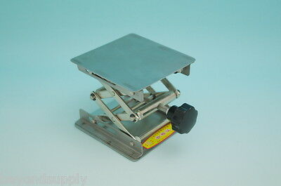 """lab Stainless Steel Lab Jack4""""(10cm)x4""""(10cm)Scissor Stand lifting table new"""