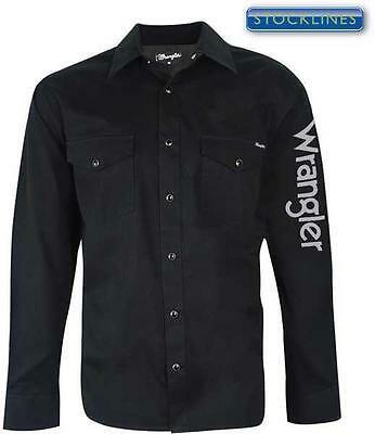 Wrangler Mens Rodeo Long Sleeve Drill Shirt VARIOUS COLOURS