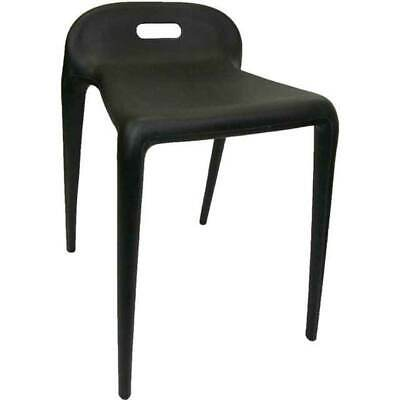 BUM STOOL Chair Height Stackable Replica Yuyu Cafe Kitchen Seat Replica Black