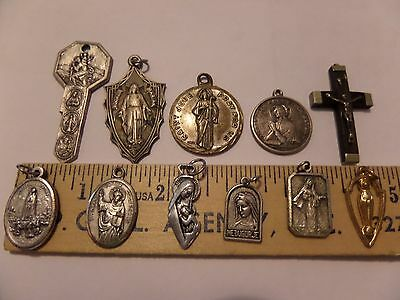 Vintage Lot Of 11 Religious Charms Christianity Catholic