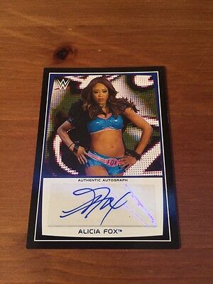2015 Topps Road to Wrestlemania, Alicia Fox Autograph Card