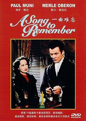 """New DVD  """" A Song to Remember """"  Paul Muni, Merle Oberon and Cornel Wilde"""