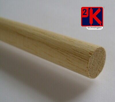 "Hardwood Dowel - 6 x 3mm (1/8"") Diameter x 36"" Long - Tracked 48 UK Post"