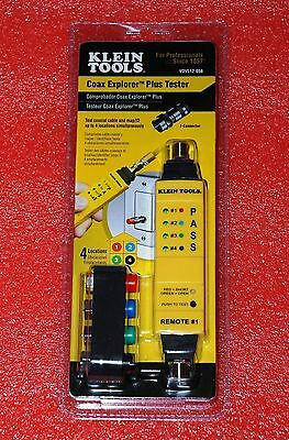 Klein Tools Cable Toner Mapper With 4 Coax Remotes Finders Vdv512-058 #q105